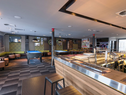The Main bar at Highway Hotel can be host to your casual social or corporate function occasions
