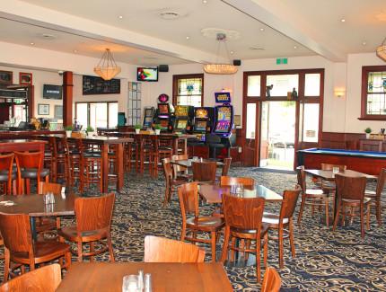 Enjoy bar and gaming entertainment at Morrison Hotel