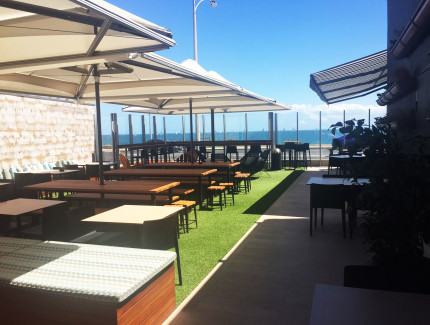 Enjoy celebrations and get togethers in our Beer Garden at Milanos