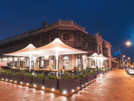 Ramsgate Hotel for great food and entertainment