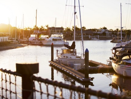 Enjoy the Marina views of Kawana Waters