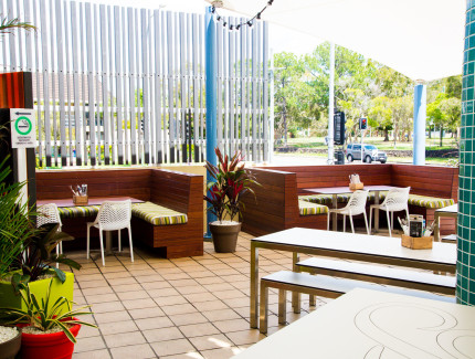 Area to be enjoyed at the Mooloolaba pub