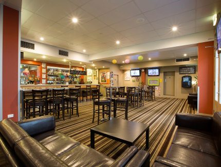 The Preston Hotel sports bar is a great place to relax
