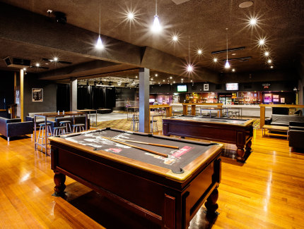 The Sandbelt Hotel has a great function space including pool tables