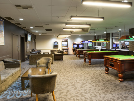 Play a round of pool with your friends at the Westside Hotel sports bar