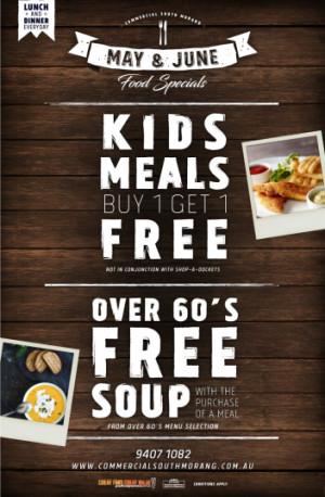 Seniors & Kids Meal Deals