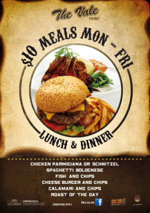 Monday - Friday $10 Lunch & Dinner