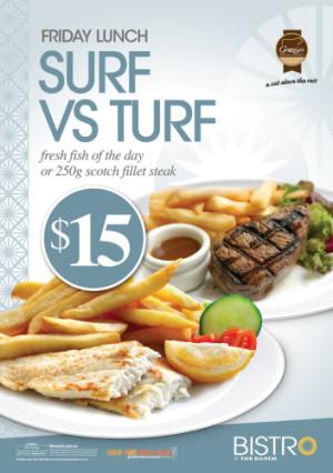 Friday $15 Surf Vs Turf