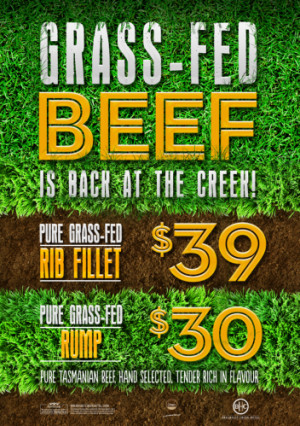 Grass-Fed Beef is back at the Creek!