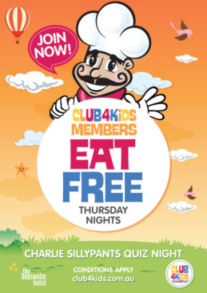 Thursday Night Club 4 Kids Members Eat Free