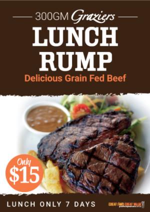 $15 300g Graziers Lunch Rump