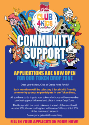 Club 4 Kids Community Support Program