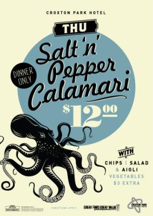 Thursday $12 Salt 'n' Pepper Calamari