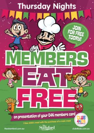 C4K MEMBERS EAT FREE