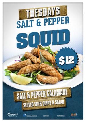 Tuesday $12 Salt & Pepper Squid