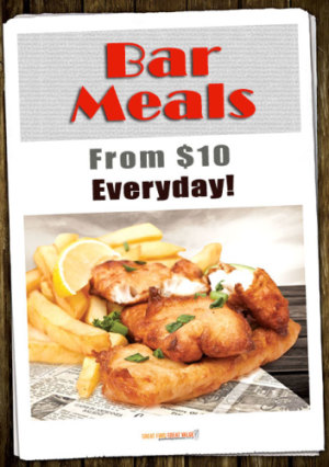 Bar Meals from $10