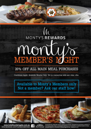Monty's Members Night