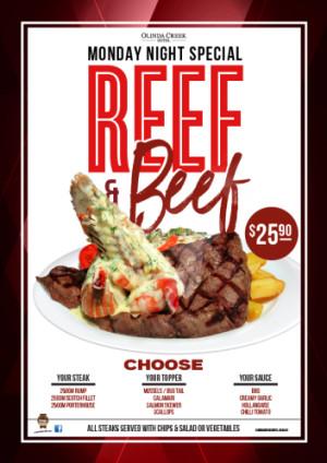 Monday Night Reef & Beef