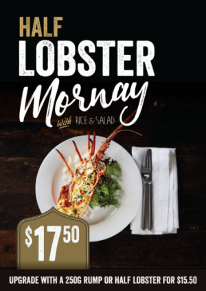 $17.50 Half Lobster Mornay
