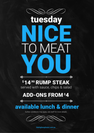 Tuesday Nice to Meat You
