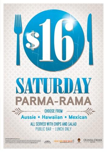 Saturday $16 Parma-rama