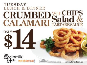 Tuesdays $14 Calamari