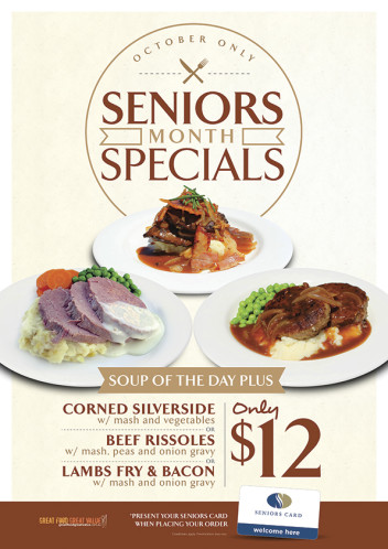 Seniors Month $12 for 2 Courses